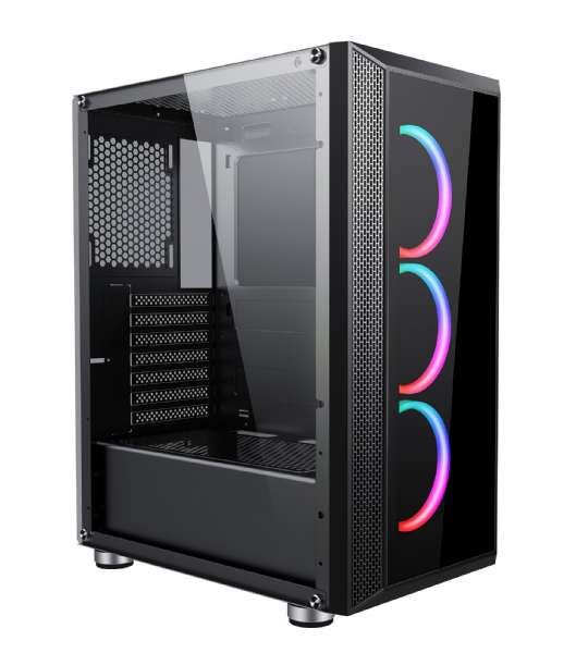 AvP Arion Mid Tower Case 3 x RGB M/B Sync Fans